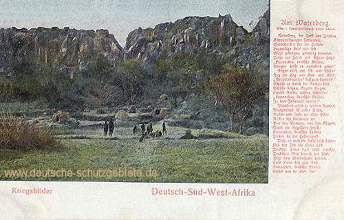 Deutsch-Südwestafrika, Kriegsbilder - Am Waterberg