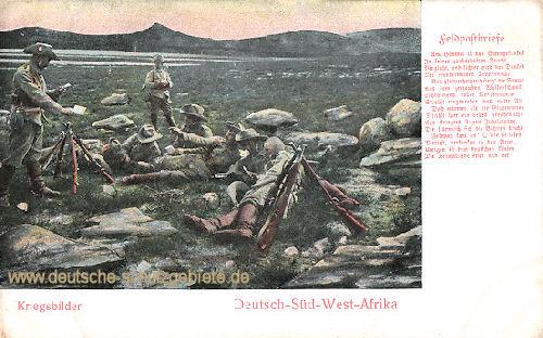 Deutsch-Südwestafrika, Kriegsbilder - Feldpostbriefe
