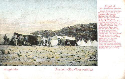 Deutsch-Südwestafrika, Kriegsbilder - Lagerlied