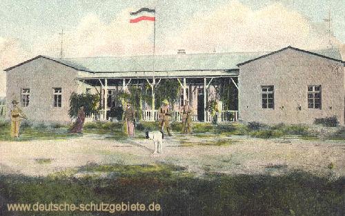 Deutsch-Südwestafrika - Zerstörtes Hotel 1904