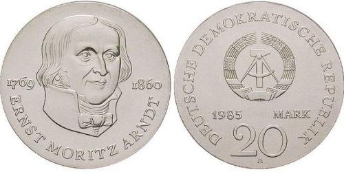 Ernst Moritz Arndt, 20 Mark DDR 1985