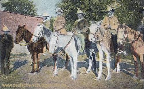 Hendrick Wittboi mit seinem Stabe