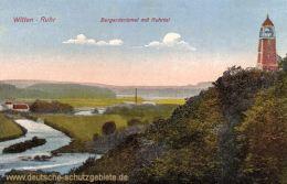 Witten, Bergerdenkmal mit Ruhrtal