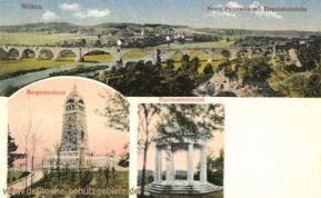 Witten, Neues Panorama mit Eisenbahnbrücke