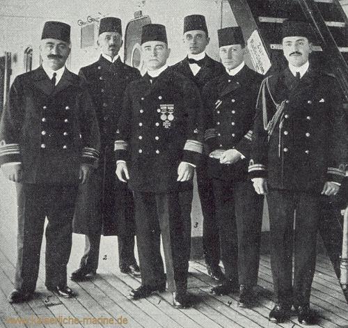 Admiral Souchon mit seinem Stab