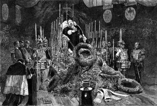 Aufbahrung der Leiche König Ludwigs II. von Bayern