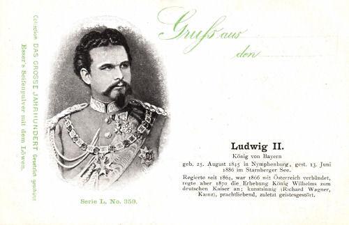 König Ludwig II. (1848-1886), Biographie, Lebenslauf in Bildern ...