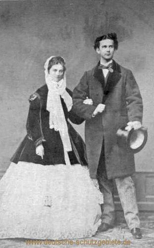 Ludwig II. mit seiner Braut Sophie Charlotte, 1867