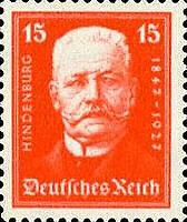 Hindenburg, 1927,15 Pfennig