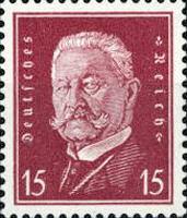 Hindenburg 1928, 15 Pfennig