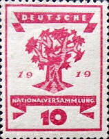 Nationalversammlung in Weimar 1919, 10 Pfennig