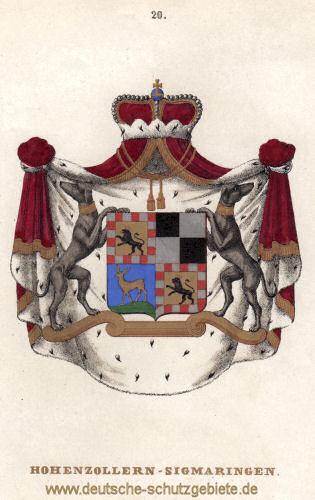 Hohenzollern-Sigmaringen Wappen (Lithografie Tiedemann 1842)