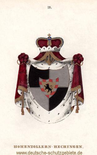 Hohenzollern-Hechingen Wappen (Lithografie Tiedemann 1842)