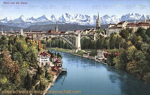 Bern, Blick über die Alpen