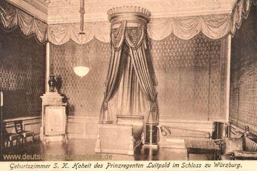 Geburtszimmer S. K. Hoheit des Prinzregenten Luitpold im Schloss zu Würzburg