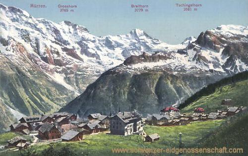 Mürren, Alpenlandschaft