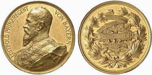 Prinzregent Luitpold - Medaille Internationale Kunstausstellung München 1892