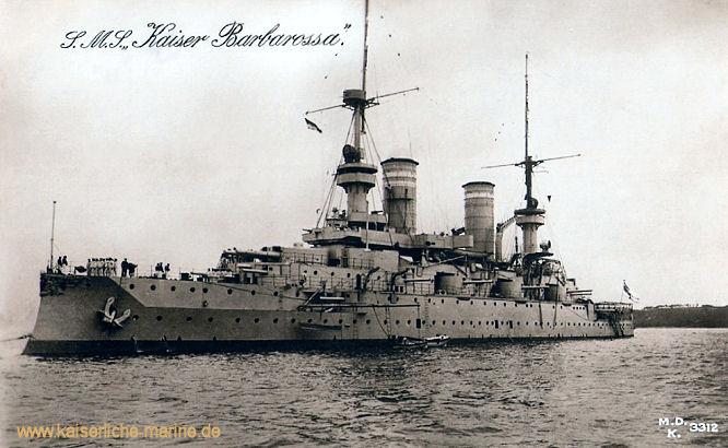 S.M.S. Kaiser Barbarossa, Linienschiff