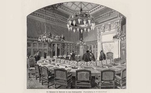 Der Sitzungssaal des Bundesrats