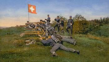 Schweizer Armee, Infanterie Gefechtsschießen