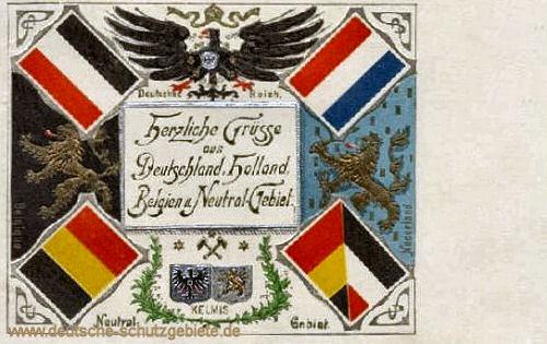 Vierländereck, Herzliche Grüsse aus Deutschland, Holland, Belgien und Neutral-Gebiet