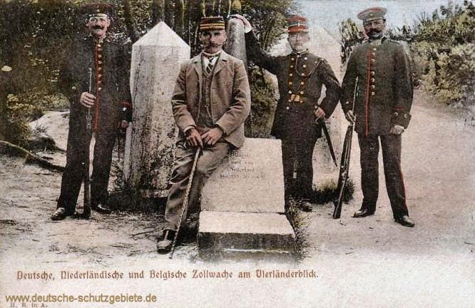 Vierländerpunkt - Deutsche, Niederländische und Belgische Zollwache am Vierländerblick