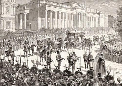 Der Tod König Karls I. von Württemberg. Das Leichenbegängnis