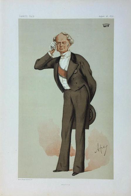 "Graf Beust ""Vanity Fair"" 28. August 1875"