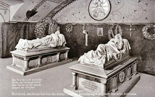 Sarkophag des Königs Karl und der Königin Olga von Württemberg in der Gruft des Alten Schlosses