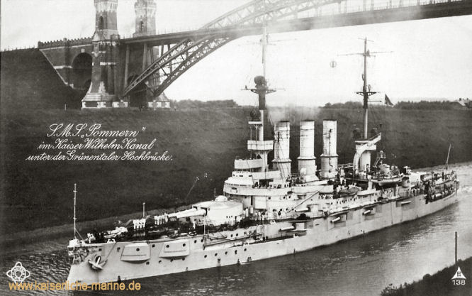 S.M.S. Pommern, Linienschiff