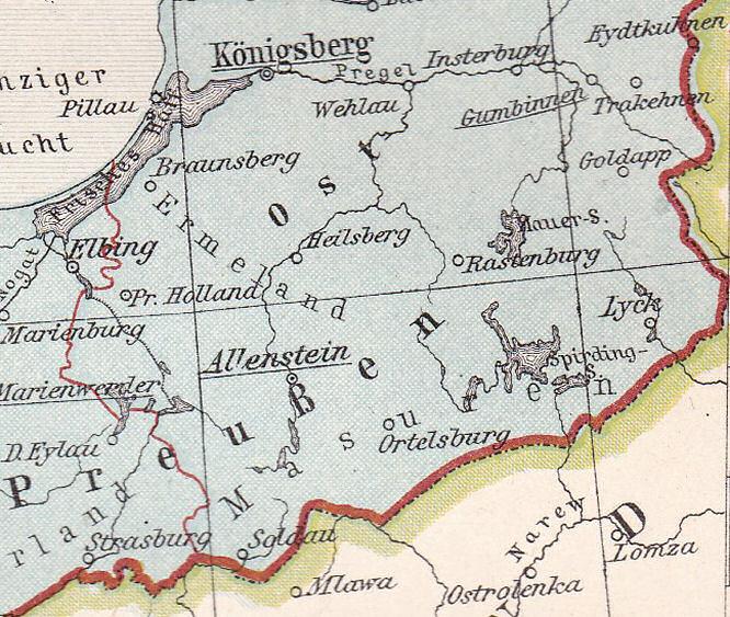 Masuren, südliches Ostpreußen