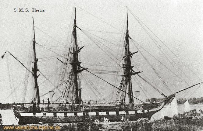 S.M.S. Thetis, Segelfregatte