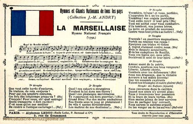 Französische Nationalhymne übersetzt