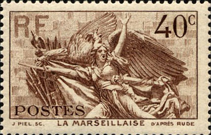 RF Postes, La Marseillaise, 40 C, 1936