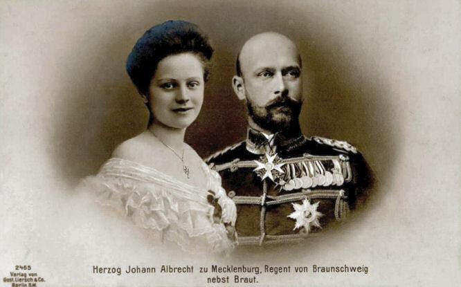 Herzog Johann Albrecht zu Mecklenburg, Regent von Braunschweig nebst Braut