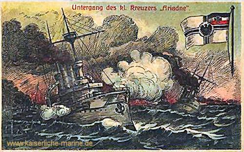Untergang des Kleinen Kreuzers Ariadne