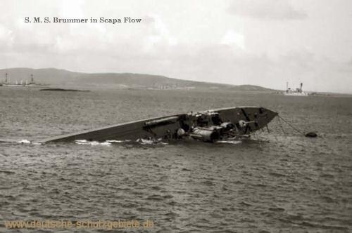 S.M.S. Brummer in Scapa Flow