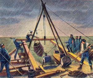 Blockadeabwehr deutscher Häfen: Minenlegen bei Pillau, Winter 1870/71