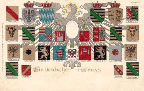 Bundesstaaten Deutsches Reich, Wappen