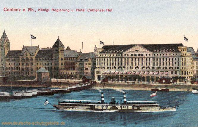 Koblenz, Königliche Regierung und Hotel Coblenzer Hof
