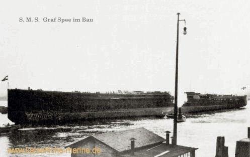 S.M.S. Graf Spee im Bau