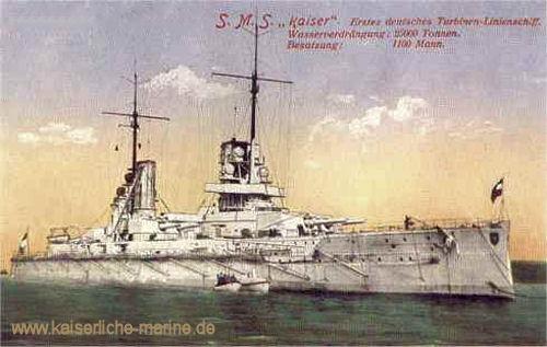 S.M.S. Kaiser, Erstes deutsches Turbinen-Linienschiff.