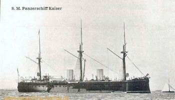 S.M.S. Kaiser, das Flaggschiff des Übungsgeschwaders 1888