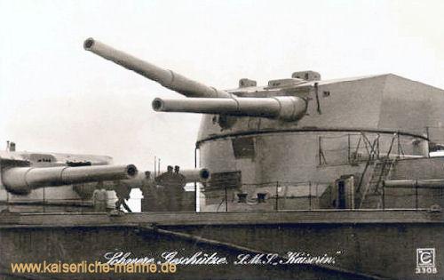S.M.S. Kaiserin, schwere Geschütze