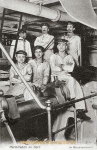 S.M.S. König Wilhelm, Marineleben an Bord, im Maschinenraum