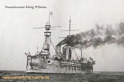 S.M.S. König Wilhelm, umgebaut zum Panzerkreuzer I. Klasse