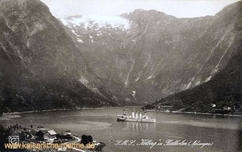 S.M.S. Kolberg in Balholm (Norwegen)