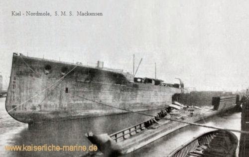Kiel - Nordmole, S.M.S. Mackensen und S.M.S. Graf Spee