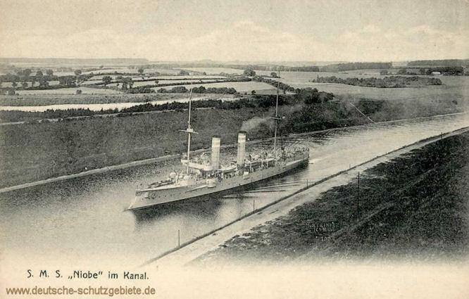 S.M.S. Niobe im Kanal