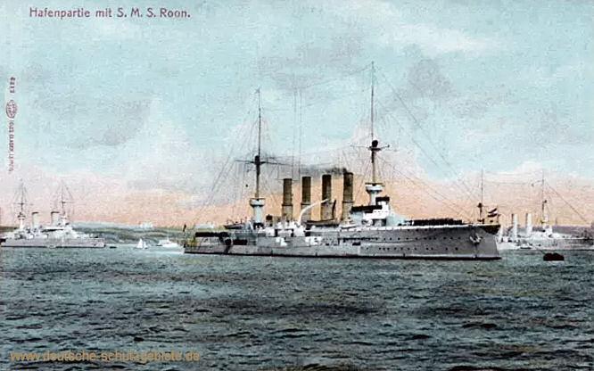 S.M.S. Roon, Hafenpartie